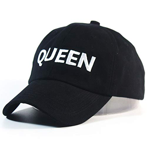 Image Unavailable. Image not available for. Colour  Tinksky Women s Queen  Baseball Cap Hip Hop Couple Snapback Hat (Black) 9b11e77b8a52