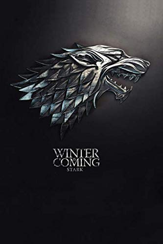Book cover from Winter is Coming, Stark: Game of thrones notebook, 100 lined pages by MovieNotebooks
