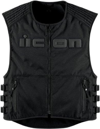 Icon Leather Vest (ICON Men's Brigand Black Vest, L/XL)