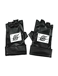 Mtxc Naruto Cosplay Accessories Konoha Betrayer Ninja Gloves Black
