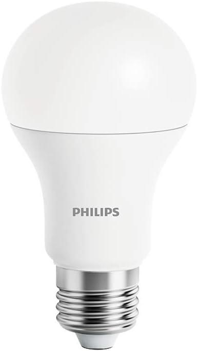 Philips MUE4088RT - Bombilla Wi-Fi E27, Led, Controlada de forma inalámbrica, Regulación continua por APP, 9 W, Blanco, 110X61 mm