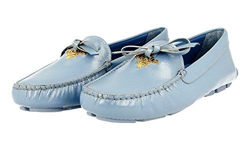 Prada Dames 1d530b Lederen Saffiano Loafers
