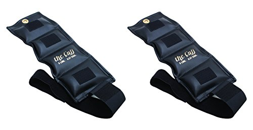 - The Cuff Original Ankle and Wrist Weight - 5 Pound, Black - Set of 2