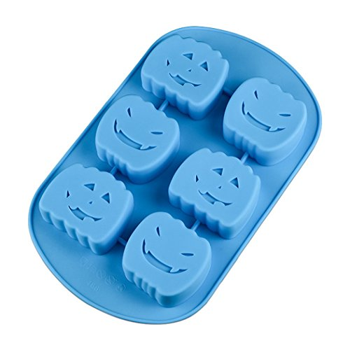 Meao Non Stick Silicone Baking Molds for Cake, Muffin, Chocolate, Jelly and Candy - Halloween Series(Pumpkin head #2, Color (Simple Halloween Baking Ideas)