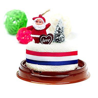 Bo @ regalo de Navidad Pastel de Navidad Forma toalla (100% algodón, 30