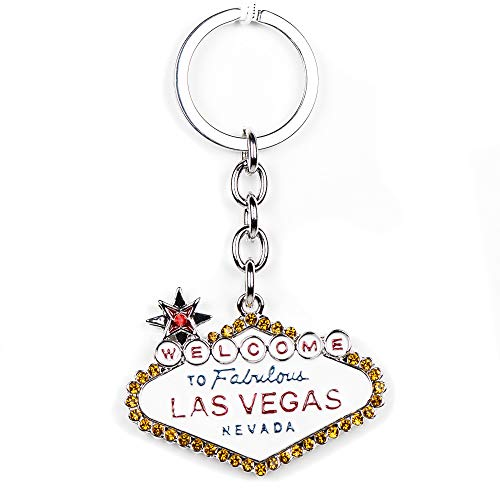 (Lilly Rocket Welcome to Las Vegas Sign Bling Key Chain with Swarovski Crystal)
