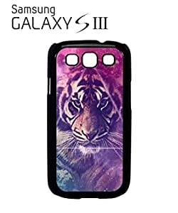 Galaxy Tiger Animal Leopard Mobile Cell Phone Case Samsung Galaxy S3 Black