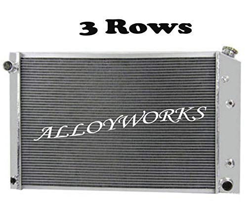 ALLOYWORKS 3 Row Aluminum Radiator for Chevy/GMC C/K Series 1973-1991 (A) (Blazer 1981 81 Chevrolet)