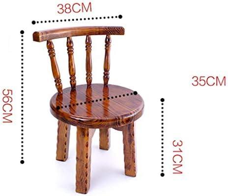 Chaise Tabouret créatif Simple Tabouret Court Mode Tabouret en Bois Dossier Tabouret Mode