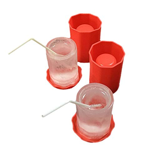 HEYJUDY Silicone Ice Cup Mold Beer ice Cup Easy to Clean Non-Stick Silica Gel Heat Cold Resistance for Home Leisure bar Picnic Beach Seaside