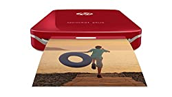 """Hp Sprocket Plus Instant Photo Printer, Print Larger Photos On 2.3x3.4"""" Sticky-backed Paper – Red (2fr87a)"""