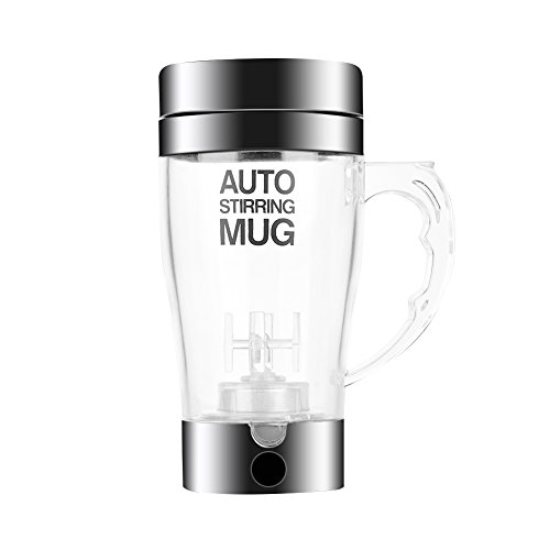 350ml Automatic Coffee Stirring Mug Electric Mixing Coffee Tea Cup Protein Shaker Mixing Cup Shaker for Traveling Office Men and Women]()