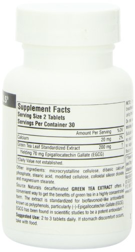 SOURCE NATURALS Green Tea Extract 100 Mg Tablet, 60 Count