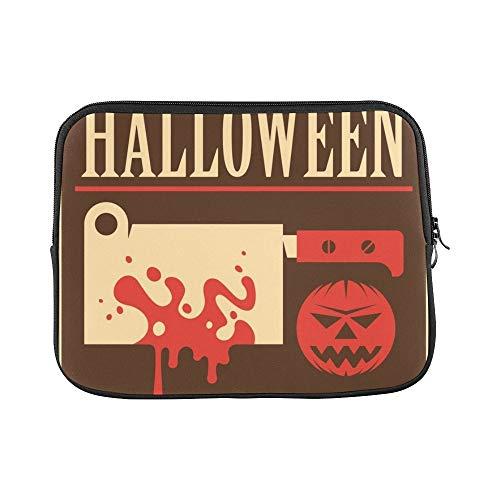 Design Custom Retro Halloween Poster Sleeve Soft Laptop