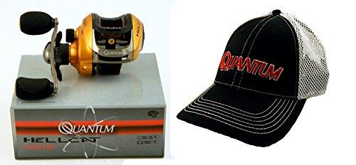 Bundle - Quantum Hellcat HCBC100 6.3:1 Right Hand Baitcast Fishing Reel and (Quantum Magnetic Reel)