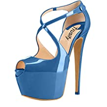 Trusify Womens 16cm Synthetic US Plus Size 4-15 Trucrack 16CM high-heel Sandals