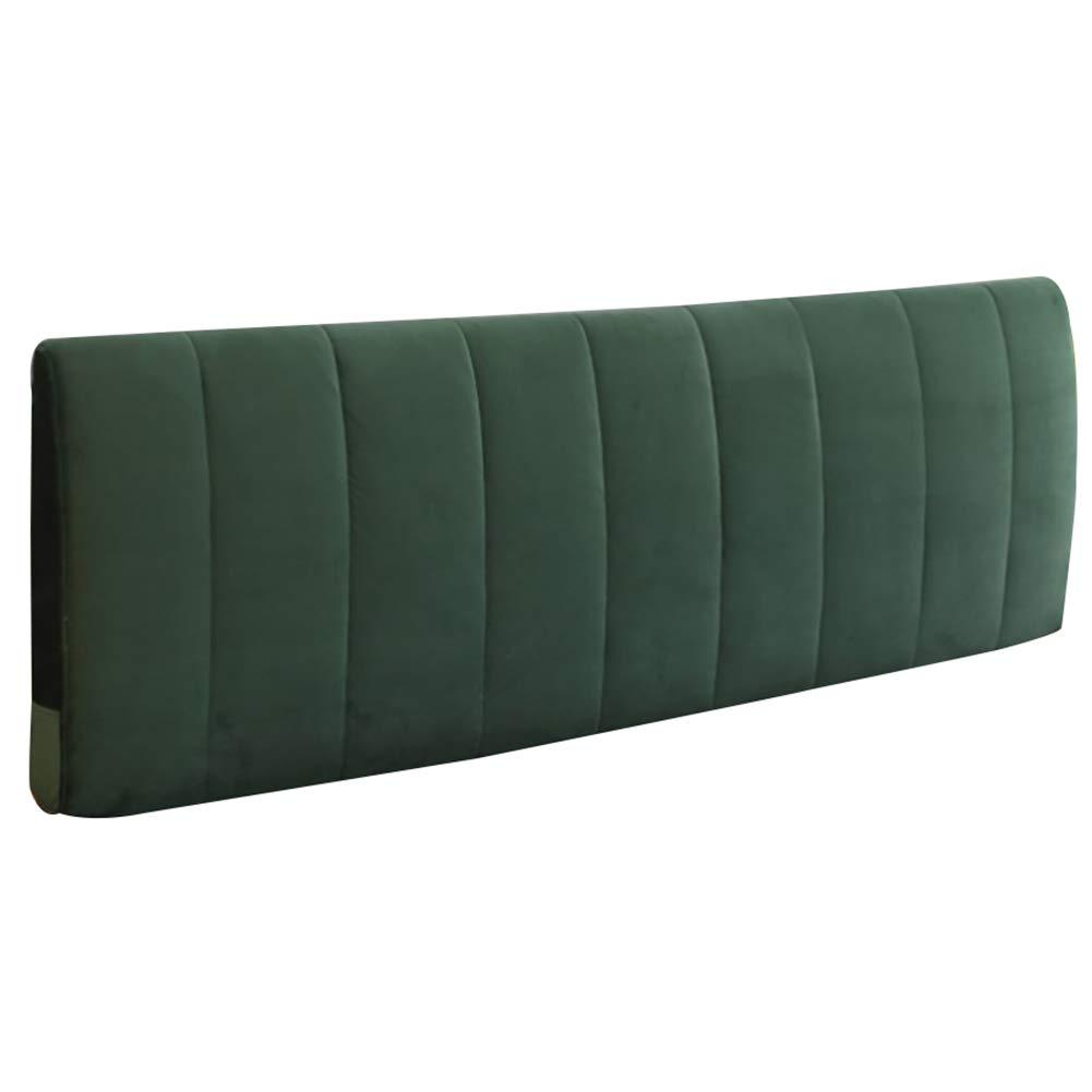 GUOWEI ベッドサイドクッション 布張り ヘッドボード ウェッジ バックレスト サポート スポンジ 取り外し可能 4色 5サイズ 200x58x10cm グリーン 200x58x10cm グリーン B07M92ZSX9