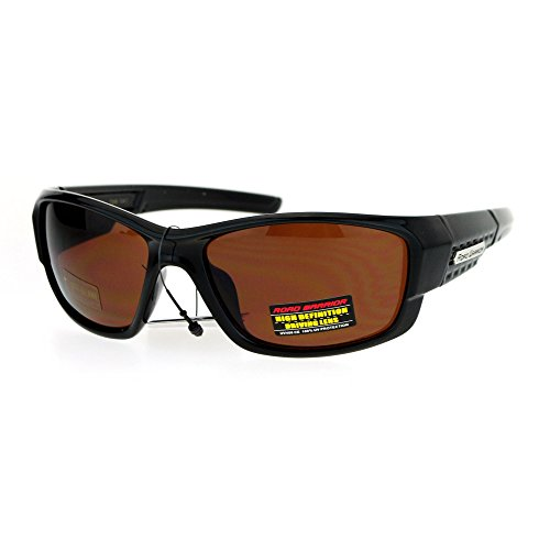 Road Warrior HD Lens Classic Biker Warp Around Sport Mens Sunglasses Shiny - Sunglasses Warrior Road