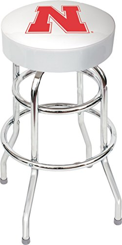 Imperial Officially Licensed NCAA Furniture: Swivel Seat Bar Stool, Nebraska Cornhuskers