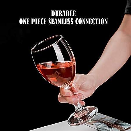 Hs&sure Copas de Vino Baratas, Conjunto de 6 Copas de Vino Tinto, Vino Adecuado para Toda la ocasión, lavavajillas y Caja de Seguridad de microondas. (Size : 295 ML-1)