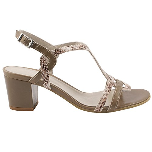Exclusif ParisExclusif Paris Cindy, Chaussures femme Sandales cuir - Sandalias de Vestir Mujer Beige - beige