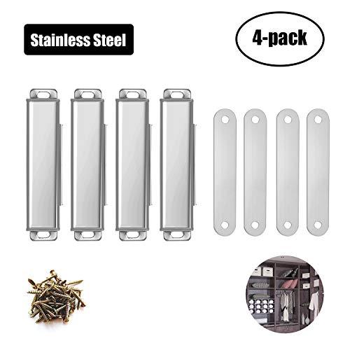 Aybloom Cierre magnético para puerta – 4 unidades de acero inoxidable clóset magnético cierre de clóset apto para...