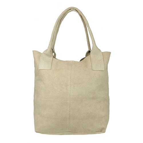 Leather Italian Leather Shoulder Real Bag Pelle Nude Open White Top Womens Suede London Handbags Genuine Pink Vera Craze fnwp8gqwt