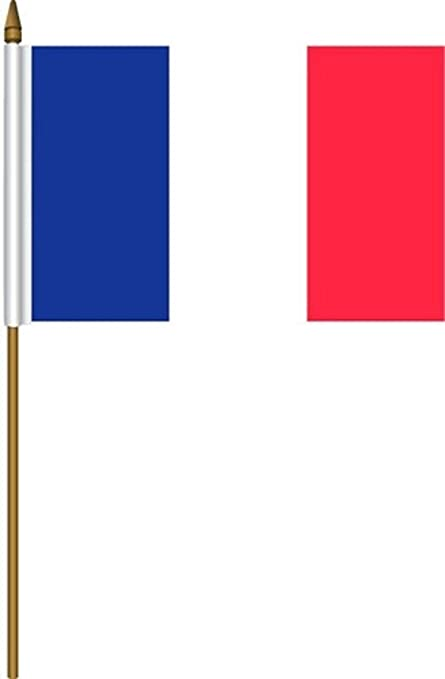 amazon com france small 4 x 6 inch mini country stick flag banner