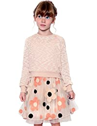 Long Sleeve Sweater Dress, 2T-6X, 7-16