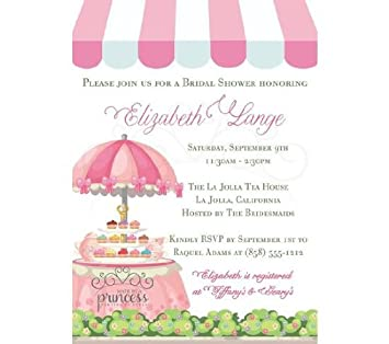 photo regarding Bridal Shower Invitations Printable identified as : Tea Get together Restaurant Bridal Shower or Little one Shower