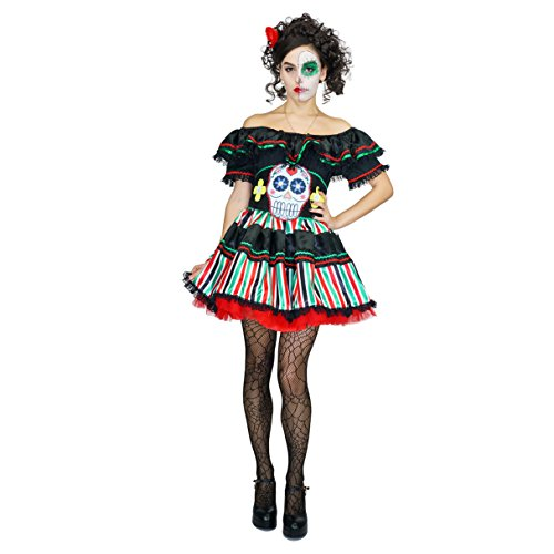 flatwhite Day of Dead Senorita Costume for Women (L)]()