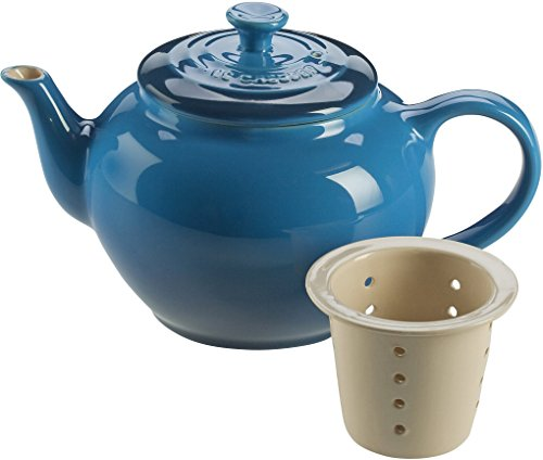 Le Creuset Stoneware 22-Ounce Teapot with Infuser, Marseille