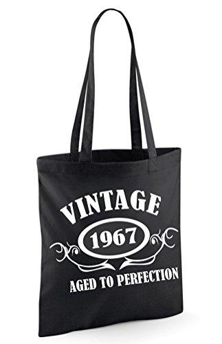 SAC EN Noir TOILE VINTAGE 1967 xwB4xT78q