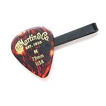 Martin & Co. Tie Bar Clip Black Guitar Pick Country Rebel Blues Steel Music Rock Musician Teacher Band Suit Accessories Concert