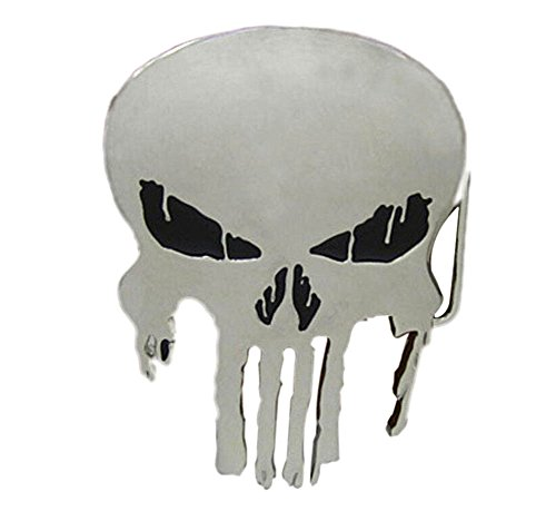 Yamimi punisher skull Solid Metal Cool Belt Buckle - Skull Buckle Metal