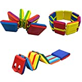 Amor 2 PCS Colorful Wooden Jacob's Ladder 2 Style Classic Toy for Kids