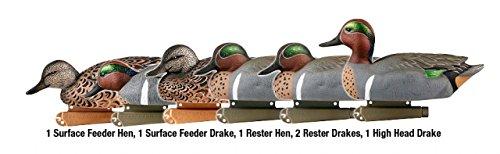 Teal Winged Green Duck - Greenhead Gear Pro-Grade Duck Decoy,Green-Winged Teal,1/2 Dozen