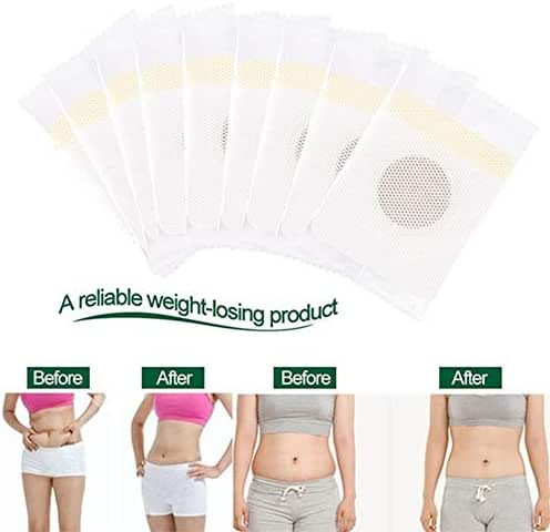 50 pcs Body Care Lazy Navel Sticker Processing Belly Stickers Slim Fat Burning Sheet, Magnet Stone Navel Sticker Patch for Flat and Attractive Abdomen