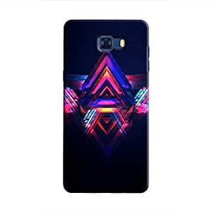 Cover It Up - Abstract Red&Blue Galaxy C7 Pro Hard Case