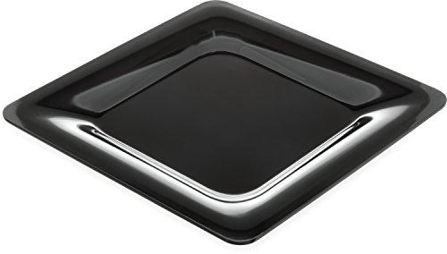 Carlisle 4440003 Designer Displayware Melamine Wide Rim Square Plate, 12
