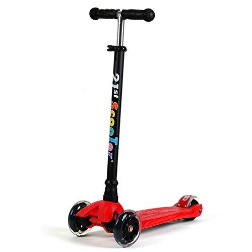 Quatre roues clignotantes enfants scooters extérieur léger en aluminium réglable en hauteur Trolley pour 2-12 ans