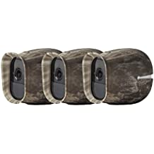3 x Silicone Skins Compatible With Arlo Pro & Arlo Pro 2 Smart Security - 100% Wire-Free Cameras — by Wasserstein (Camouflage)