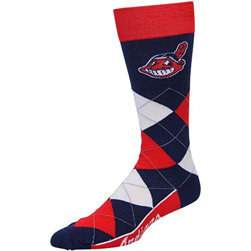 Cleveland Indians Argyle Unisex Crew Cut Socks - One Size Fits Most