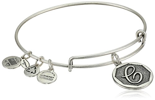 Silver Yellow Wrist Watch - Alex and Ani Rafaelian Silver-Tone Initial