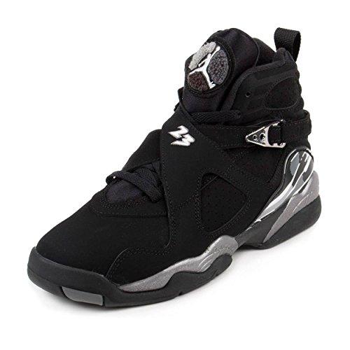 Nike Air Jordan 8 Retro BG 'Chrome' 305368-003 Black/White/Graphite Kids' Shoes (4.5)
