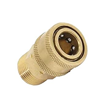 Pressure Wash Quick Release M22 female to 1//4/'/'Male Brass Connector Coupling