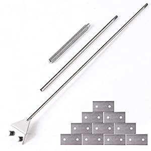 Stainless Steel Scraper Cleaner with 10 Right Angle Blades for Aquarium Fish Plant Glass Tank, 25.5 inches Length 17