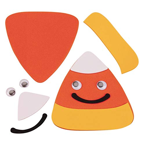 S&S Worldwide Candy Corn Magnet Craft Kit (Pack of 12)