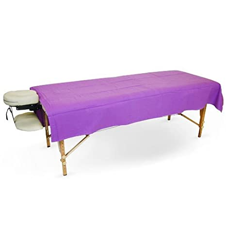 Flannel Flat Sheet for Massage Tables (1 Flat Sheet, Lavender) BodyChoice