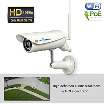 TriVision NC-336PW HD 1080P Wireless Outdoor Home Security Camera System, 4mm focus Length Lens